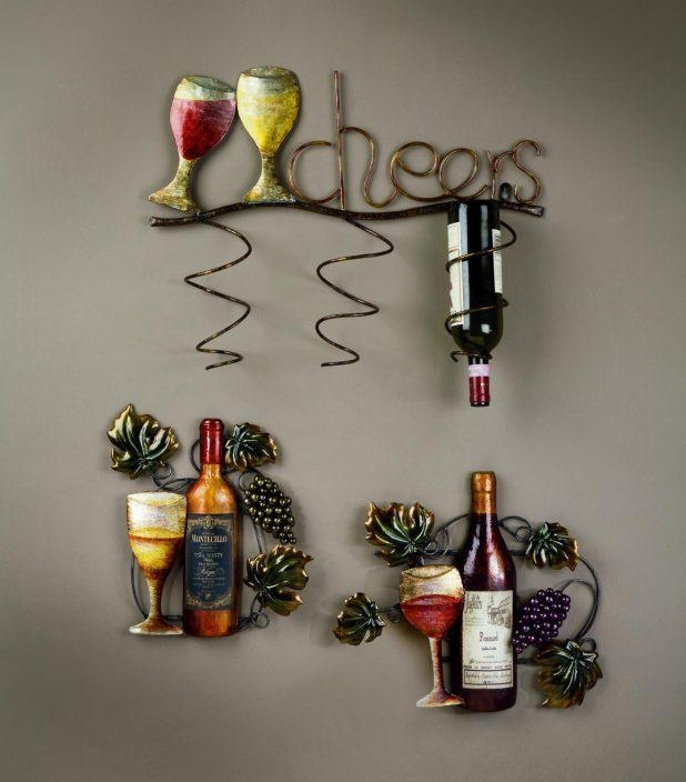 Wall Decor: Wine Bottle Wall Art Inspirations (Image 16 of 20)
