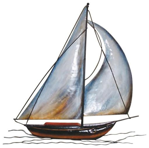 Featured Image of Sailboat Metal Wall Art