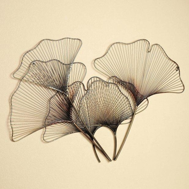 Wall Ideas : Ginkgo Breeze Metal Wall Sculpture Metal Art Wall Intended For Ireland Metal Wall Art (Image 15 of 20)