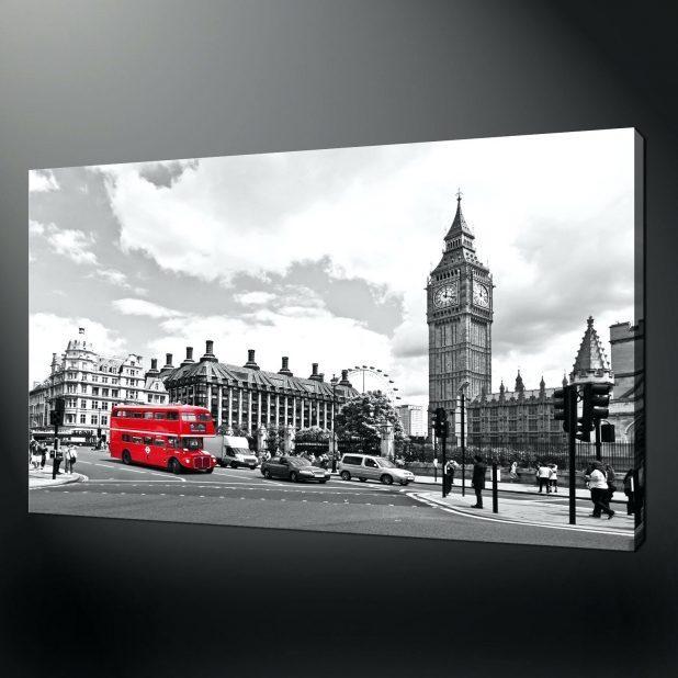 Wall Ideas : London Wall Art Walmart London Parliament Red Busses In London Scene Wall Art (View 7 of 20)