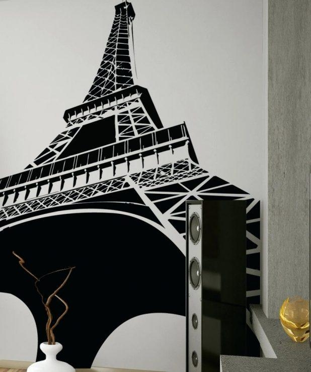 Wall Ideas : Paris Is Always A Good Idea Quotes Wall Sticker Intended For Eiffel Tower Metal Wall Art (Image 20 of 20)