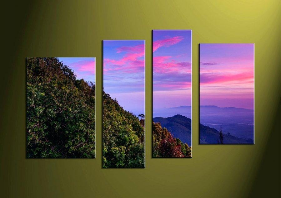 Wall Ideas : Wall Panel Art Fig Tree Pictures Home Daccor3 Piece For Multi Panel Canvas Wall Art (View 10 of 10)