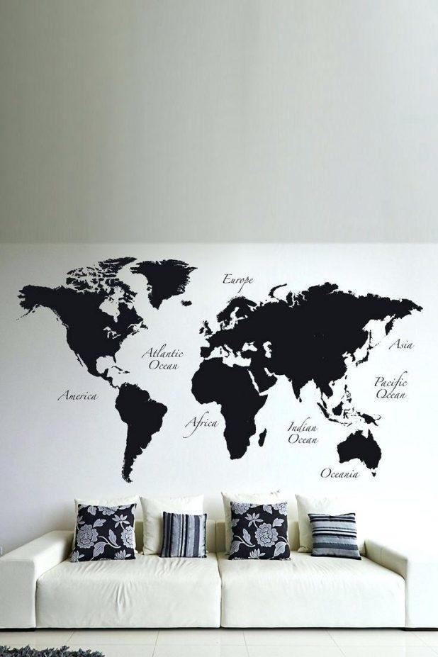 Wall Ideas : World Map Wall Art Metal World Map Sticker Wall Art With Regard To Atlas Wall Art (Image 19 of 20)