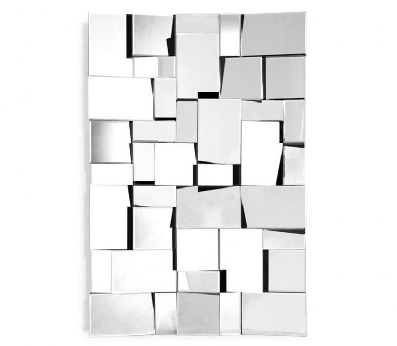 Wall Mirror Mz Fractal Throughout Mirrors Modern Wall Art (View 15 of 20)