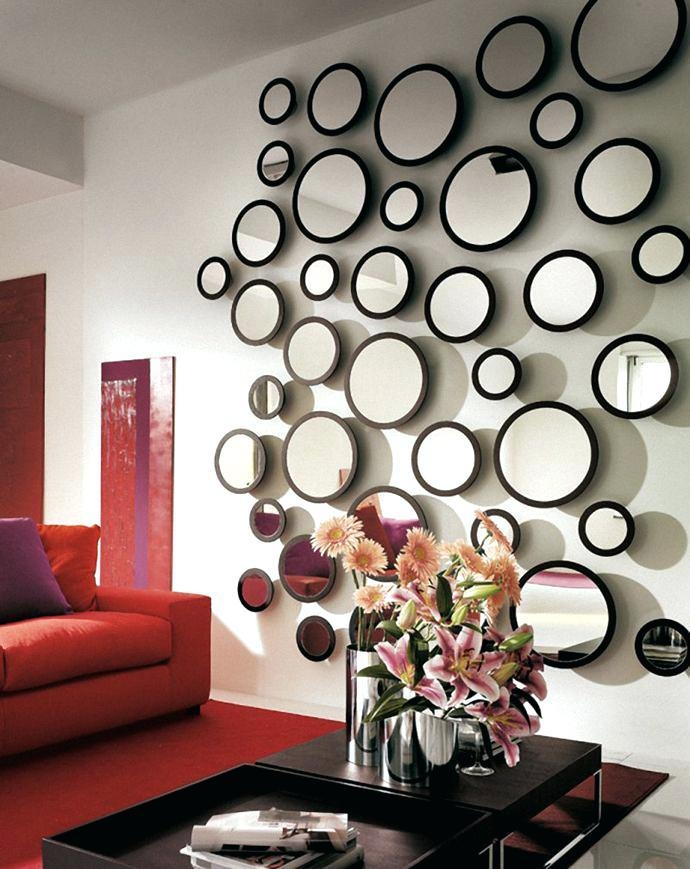 Wall Mirror ~ Small Round Mirror Wall Art Circle Wall Mirror Pertaining To Mirror Circles Wall Art (Image 20 of 20)