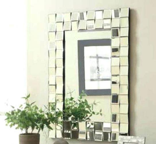 Wall Mirror ~ Wooden Mirror Frame Wall Art Mirror Frames Wall Regarding Mirrored Frame Wall Art (Image 20 of 20)