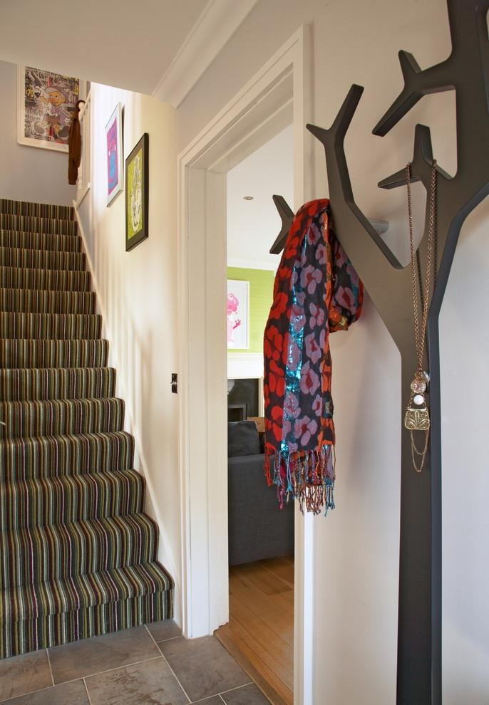 Wall Mounted Coat Rack Entry Contemporary With Clothes Storage Intended For Wall Art Coat Hooks (View 6 of 20)