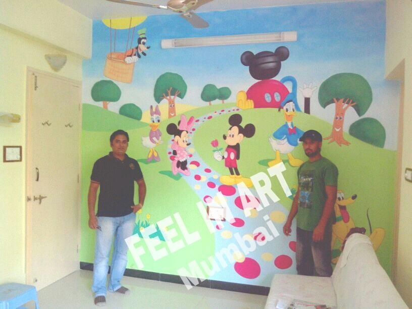 Wall Painting Mickey Mouse ~ Crowdbuild For  (Image 19 of 20)