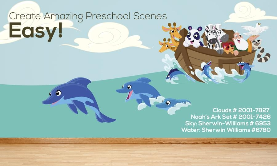 Wall Stickers: Creative For Kids For Preschool Classroom Wall Decals (Image 20 of 20)