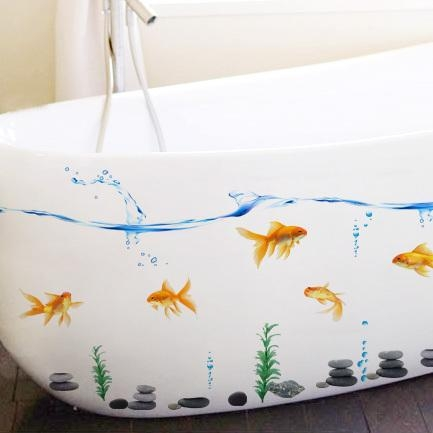 Wall Tile Decals With Regard To Fish Decals For Bathroom (View 13 of 20)