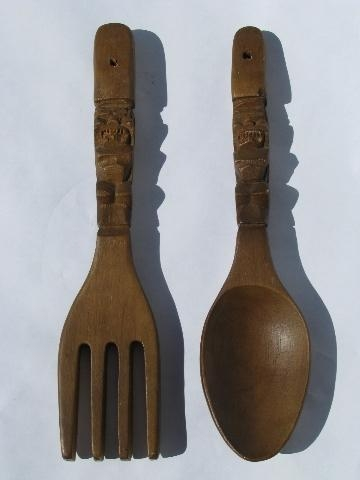 Wallpaper Big Wooden Spoon And Fork Wall Decor Wooden Furniture Intended For Big Spoon And Fork Decors (View 15 of 20)