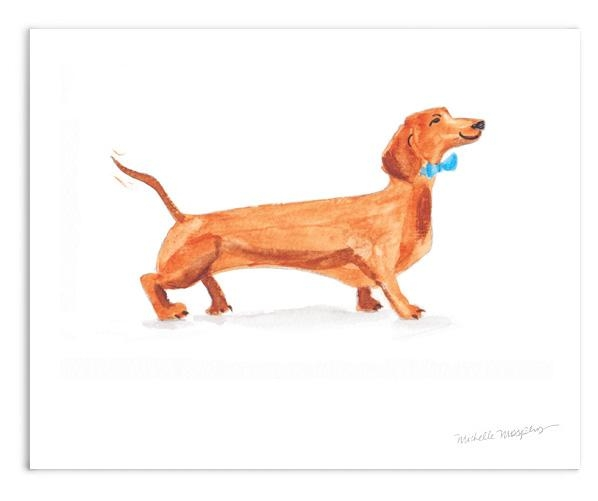 Watercolor Dachshund Weiner Dog Wall Art Print | Www (View 17 of 20)
