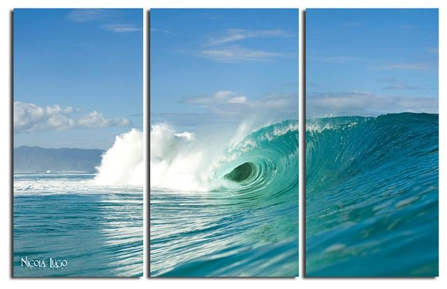 "Wave Break"" 3 Piece Canvas Wall Art Setnicola Lugo, 48""x20 Within 3 Set Canvas Wall Art (Image 20 of 20)"
