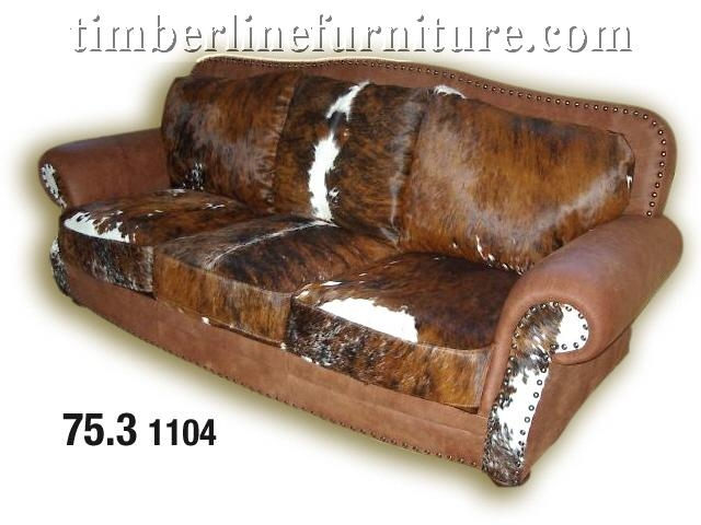 Western Couches At Timberline! – Rustic Furnishings! Throughout Cowhide Sofas (Image 17 of 20)