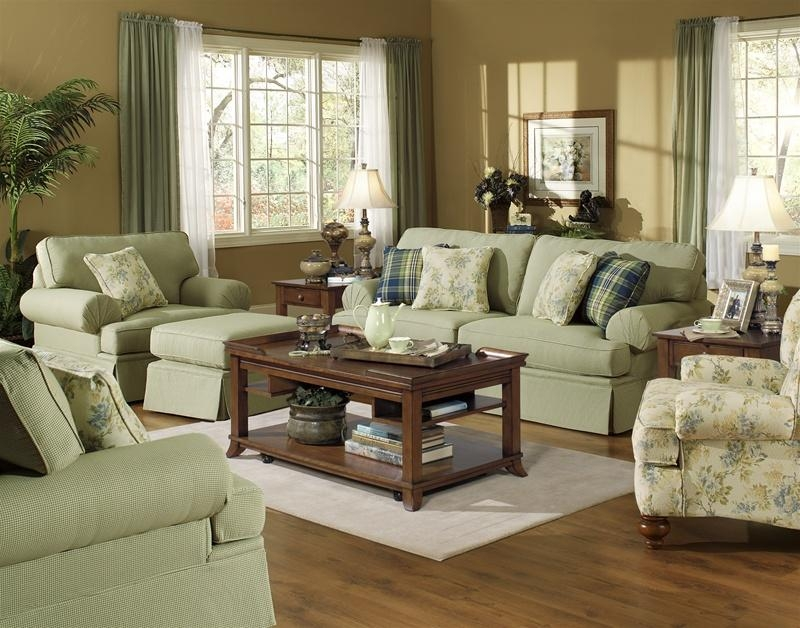 Westport Stationary Sofa In Olive Gingham Check Fabricjackson Inside Gingham Sofas (View 11 of 20)