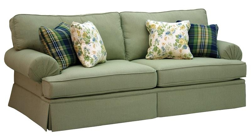 Westport Stationary Sofa In Olive Gingham Check Fabricjackson With Gingham Sofas (View 6 of 20)