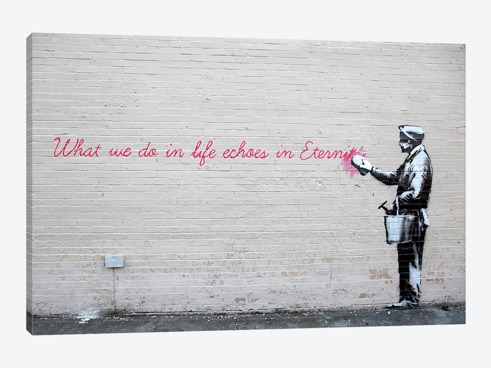 Featured Image of Banksy Canvas Wall Art
