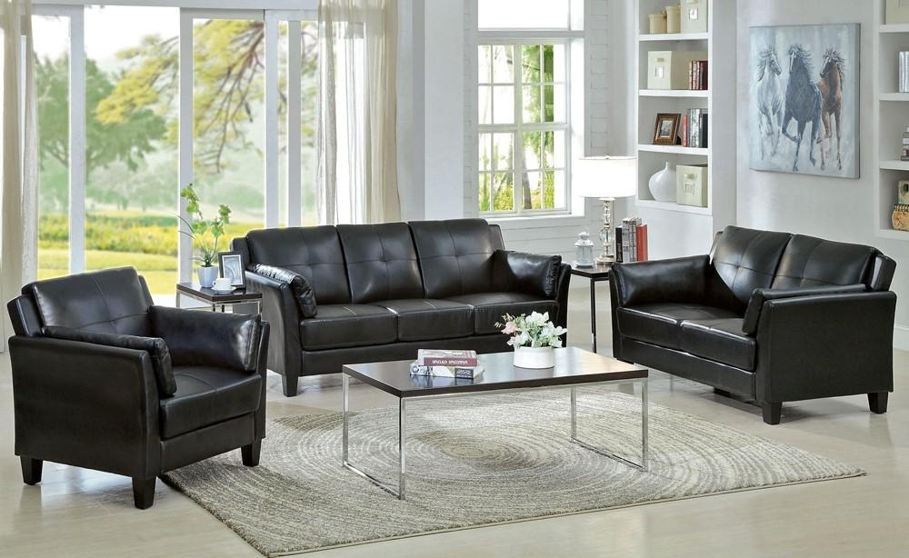 White And Black Leather Sofa Set — Home Ideas Collection : Save Intended For Black Leather Sofas And Loveseat Sets (Image 19 of 20)