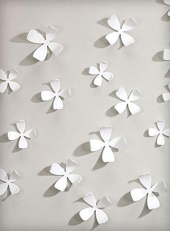 White Dogwood Wallflowers 3 D Wall Artumbra | Wall Art Within White 3D Wall Art (View 16 of 20)