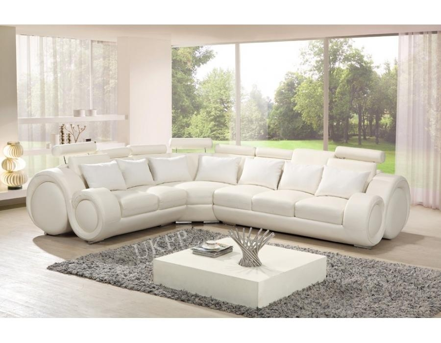 White Leather Recliner Sofa | Sanblasferry Within Italian Recliner Sofas (View 15 of 20)
