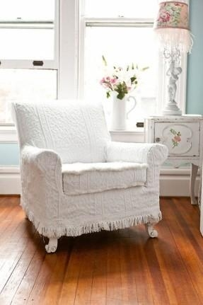 White Recliner Slipcover – Foter Inside Shabby Chic Slipcovers (Image 20 of 20)