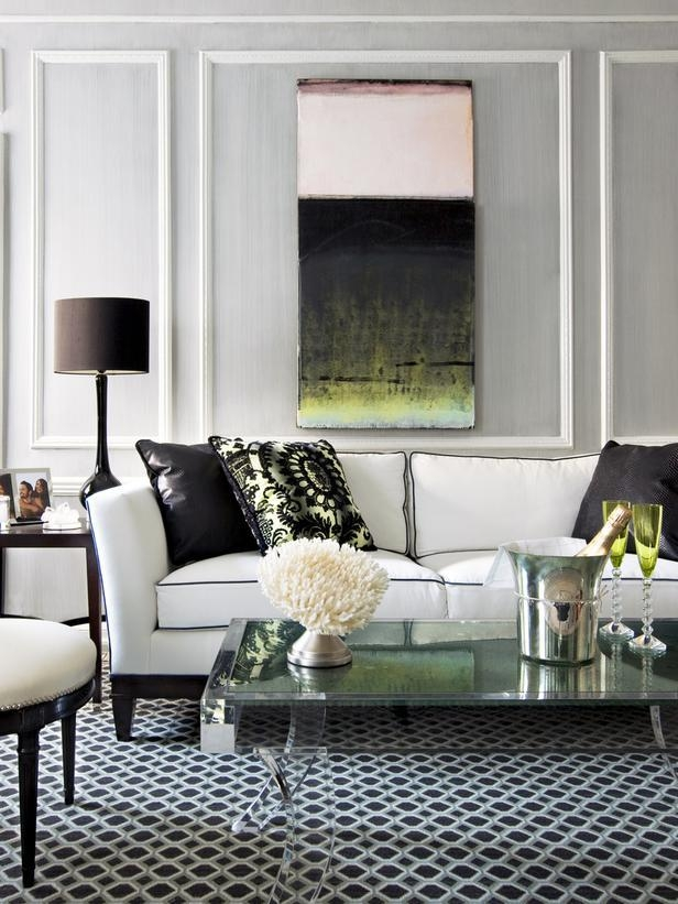 White Sofa Design Ideas & Pictures For Living Room Pertaining To Black And White Sofas And Loveseats (Image 20 of 20)