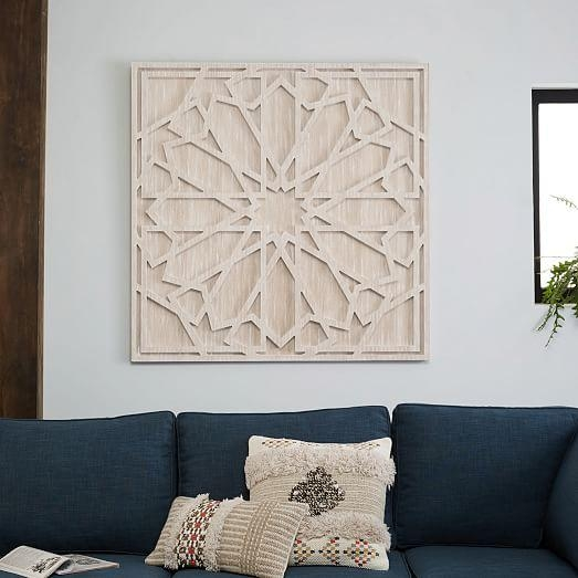 Whitewashed Wood Wall Art | West Elm Throughout Wood Wall Art (View 7 of 20)