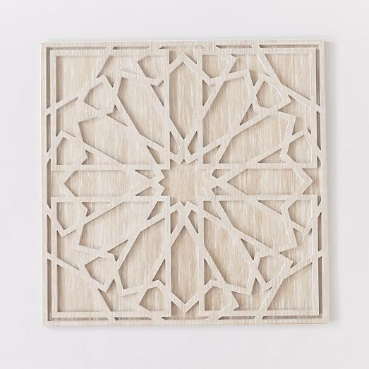 Whitewashed Wood Wall Art | West Elm With Regard To White Wooden Wall Art (View 2 of 20)