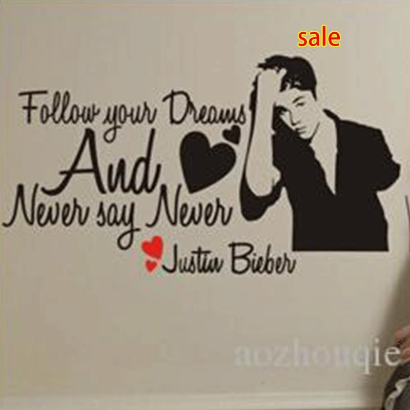 Wholesale Justin Bieber Wall Stickers – Buy Cheap Justin Bieber In Justin Bieber Wall Art (Image 19 of 20)