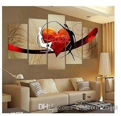 Wholesale Large Canvas No Frame Modern Hand Draw Art Oil Painting With Regard To Brown Framed Wall Art (View 7 of 20)