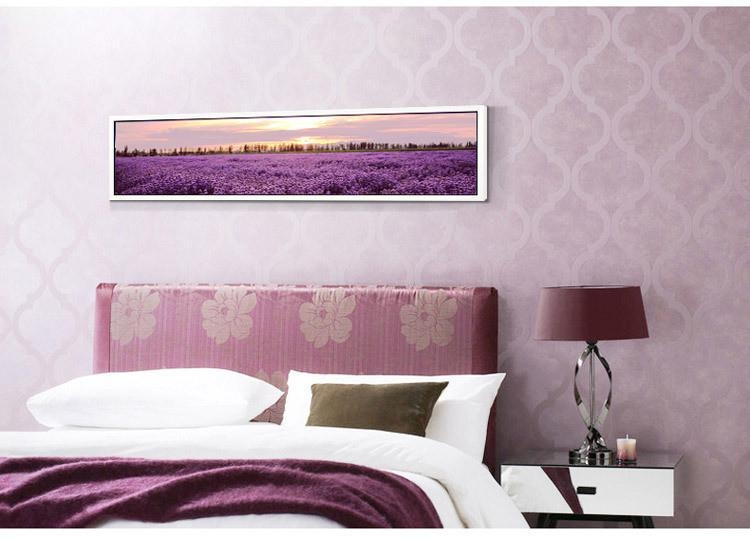 Wholesale Romantic Lavender Decorative Picture With Frame On Inside Horizontal Canvas Wall Art (Image 20 of 20)