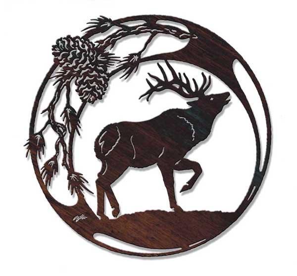 Wildlife Metal Wall Art At Timberline! With Regard To Western Metal Wall Art Silhouettes (Image 19 of 20)