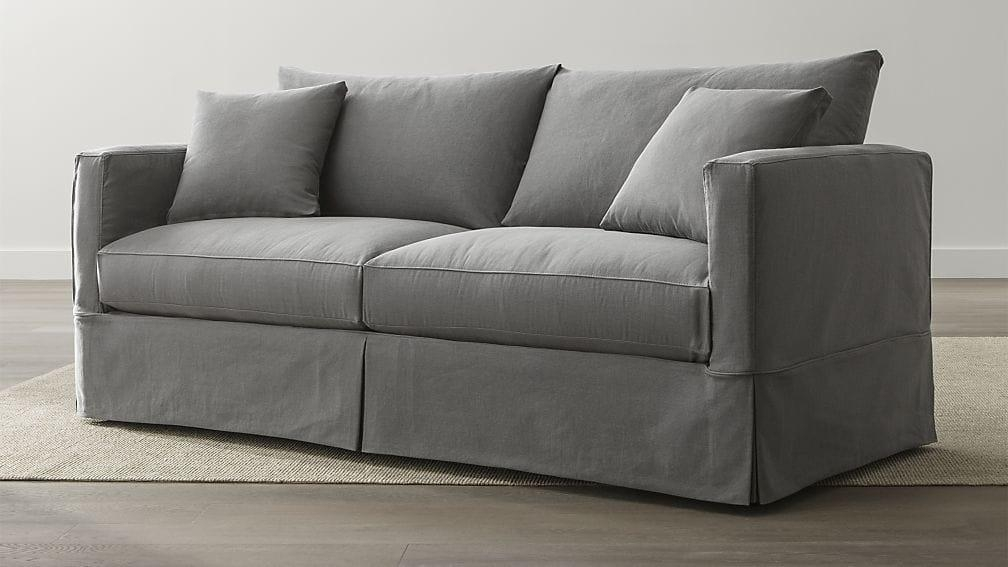 Willow Grey Queen Sleeper Sofa | Crate And Barrel Throughout Crate And Barrel Sleeper Sofas (Image 16 of 20)