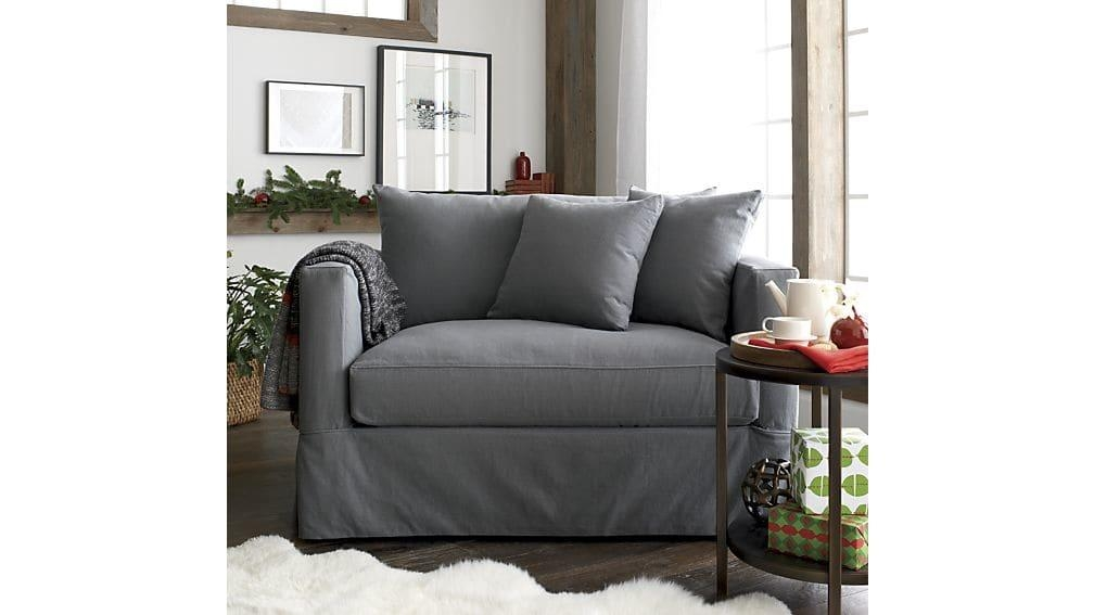 Willow Grey Twin Sofa Sleeper With Air Mattress | Crate And Barrel With Crate And Barrel Sleeper Sofas (Image 18 of 20)