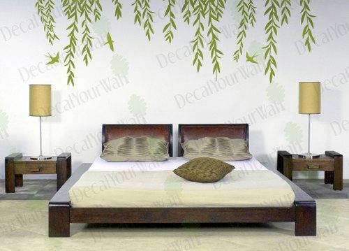 Willow Tree Wall Decal Tree Branch Weeping Birds Removable Regarding Tree Branch Wall Art (Image 20 of 20)