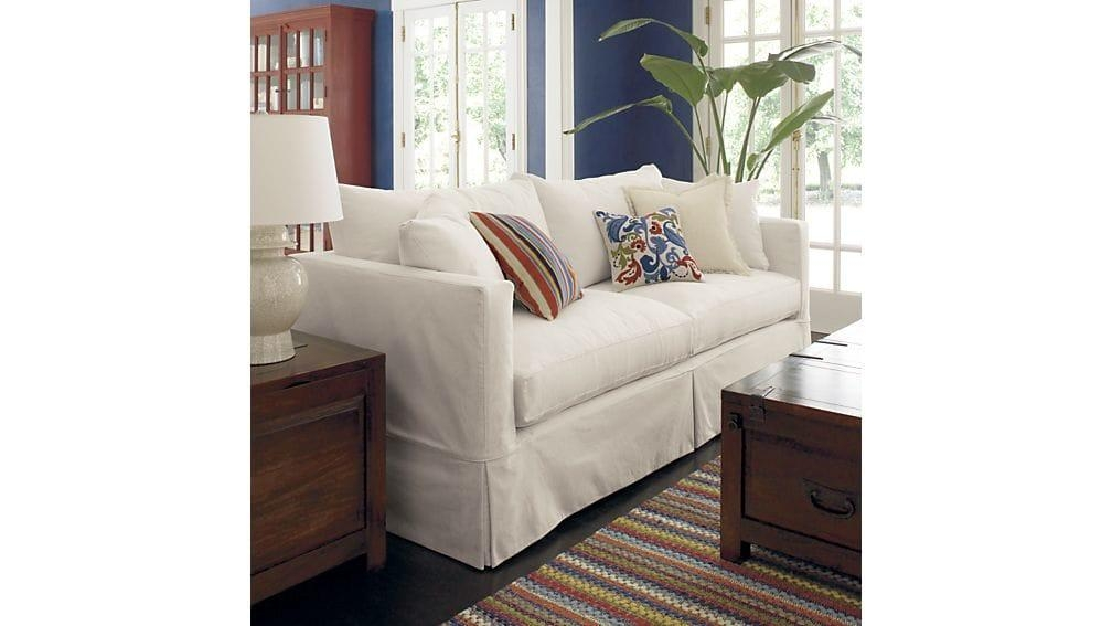 Willow White Sleeper Couch | Crate And Barrel In Crate And Barrel Futon Sofas (Image 20 of 20)