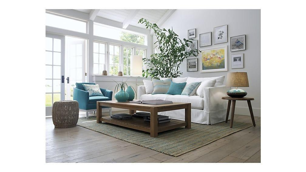 Willow White Slipcovered Sofa | Crate And Barrel For Crate And Barrel Sofa Tables (View 7 of 20)