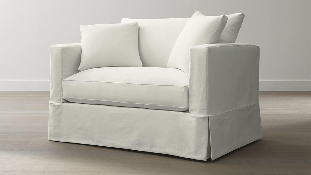 Willow White Twin Sleeper Sofa | Crate And Barrel Throughout Crate And Barrel Sleeper Sofas (Image 20 of 20)