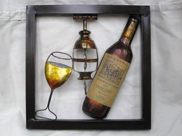 Wine Bottle Wall Art Marvelous Large Wall Art On Outdoor Metal Within Wine Metal Wall Art (Image 18 of 20)