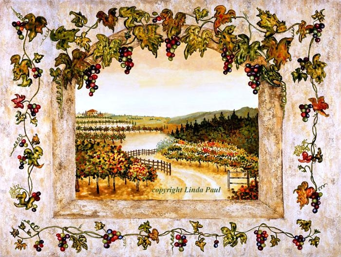 Wine Decor – Grapes, Vine, Vineyard Art On Canvas And Tile Inside Vineyard Wall Art (Image 19 of 20)