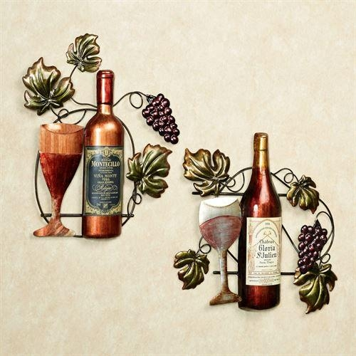 Wine Lovers Selection Metal Wall Art Set Intended For Wine Metal Wall Art (Image 20 of 20)