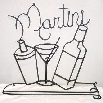 Featured Image of Martini Metal Wall Art
