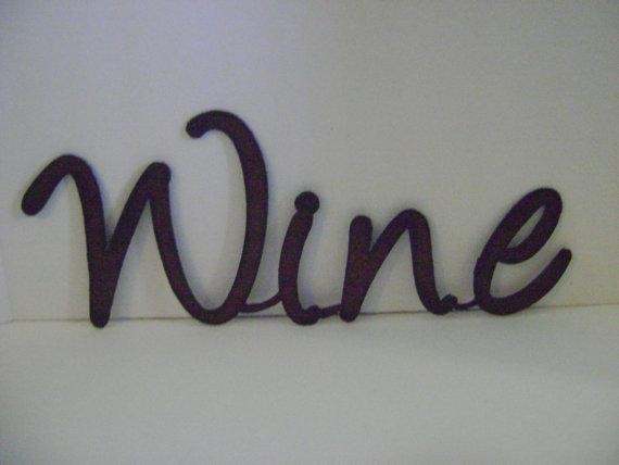 Wine Sign Wall Art Word Art Metal Words Sayings Signs Within Metal Word Wall Art (Image 20 of 20)