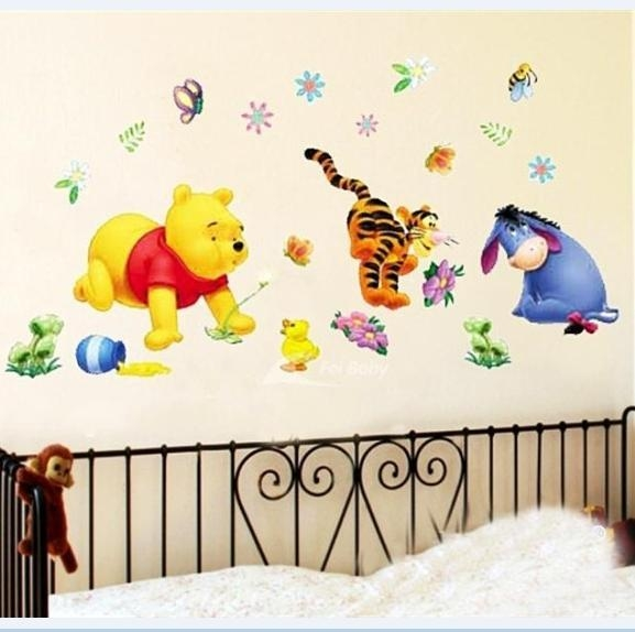 Winnie The Pooh Diy Vinyl Wall Stickers For Kids Rooms 3D Sofa With Regard To Winnie The Pooh Vinyl Wall Art (Image 19 of 20)