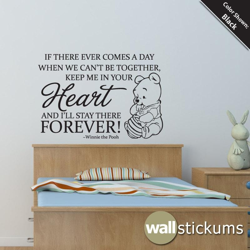 Winnie The Pooh Heart Forever Vinyl Wall Art Decal Quote Within Winnie The Pooh Vinyl Wall Art (Image 20 of 20)