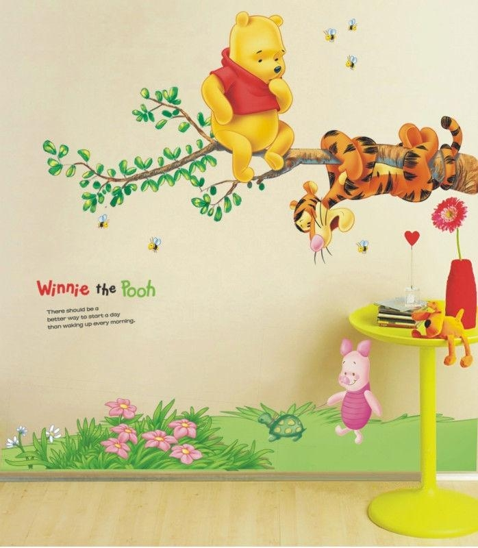 Winnie The Pooh Tree Branch Large Nursery Wall Sticker Decoration Pertaining To Winnie The Pooh Wall Art For Nursery (Image 19 of 20)