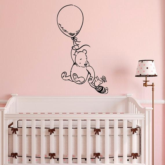 Winnie The Pooh Wall Decal Sticker Classic Winnie The Pooh In Winnie The Pooh Wall Art For Nursery (Image 20 of 20)