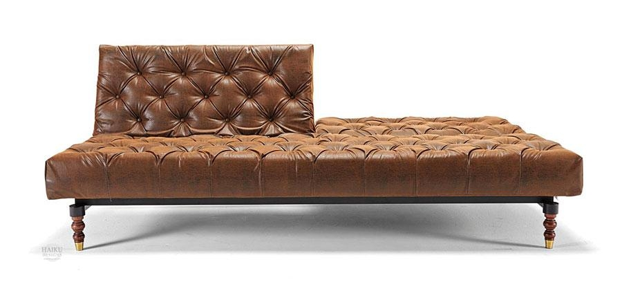 Winsome Tufted Leather Sleeper Sofa Empire Designer Style Inside Tufted Sleeper Sofas (Image 20 of 20)