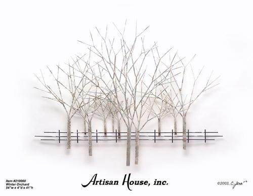 Winter Orchard – Artisan House – Tree Wall Sculpture | Wall Art With Artisan Metal Wall Art (Image 20 of 20)