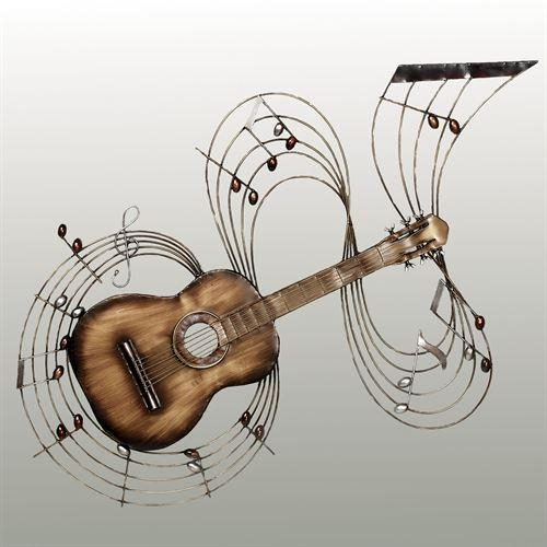 Within The Music Guitar Metal Wall Art With Regard To Guitar Metal Wall Art (Image 20 of 20)